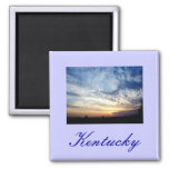 Kentucky Skies Square Magnet