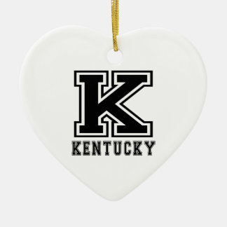 Kentucky State Designs Christmas Ornament