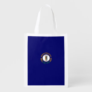 Kentucky State Flag Design Reusable Grocery Bag