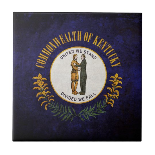 Kentucky state flag small square tile