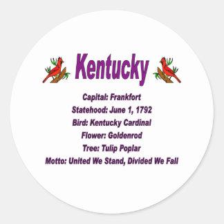Kentucky State Info Sticker