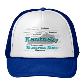 Kentucky State Pride Map Silhouette Hats