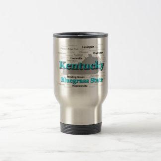 Kentucky State Pride Map Silhouette Coffee Mugs