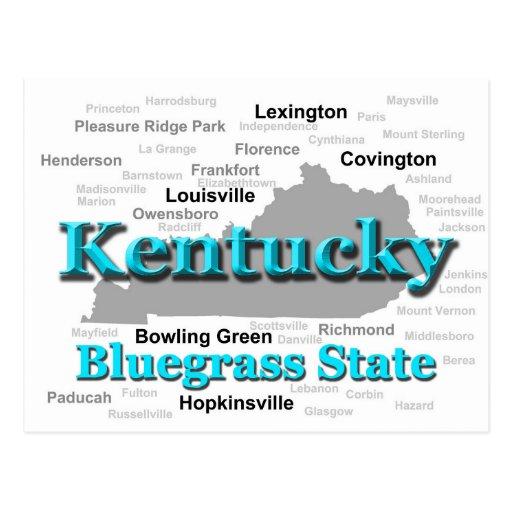 Kentucky State Pride Map Silhouette Postcard