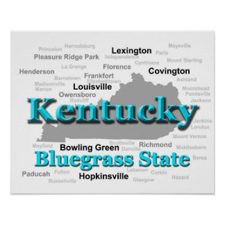Kentucky State Pride Map Silhouette Posters