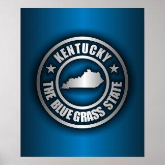 """""""Kentucky Steel (Blue)"""" Poster"""