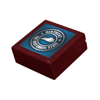 """""""Kentucky Steel (Blue)"""" Small Square Gift Box"""