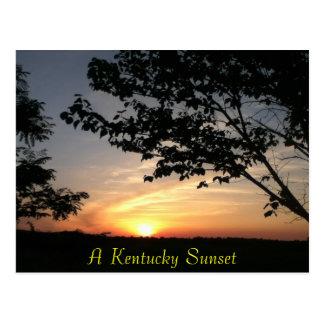 kentucky sunset postcard