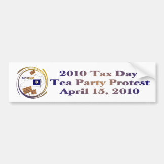 Kentucky Tax Day Tea Party Protest Bumper Sticker