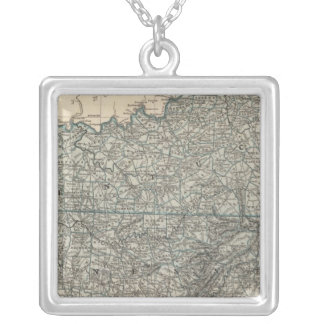 Kentucky, Tennessee 2 Silver Plated Necklace