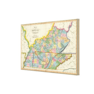 Kentucky, Tennessee 3 Canvas Print