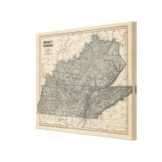 Kentucky, Tennessee 3 Canvas Prints