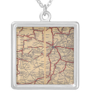Kentucky, Tennessee 3 Silver Plated Necklace