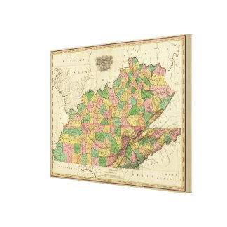 Kentucky, Tennessee and part of Illinois Canvas Print