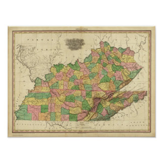 Kentucky, Tennessee and part of Illinois Posters