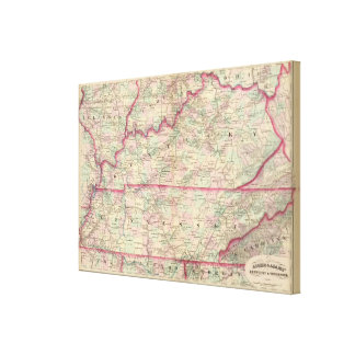 Kentucky, Tennessee Canvas Prints