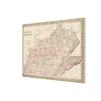 Kentucky, Tennessee Canvas Prints