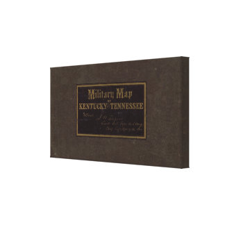 Kentucky, Tennessee military map Canvas Print