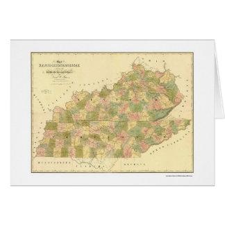 Kentucky & Tennessee Railroad Map 1839 Card
