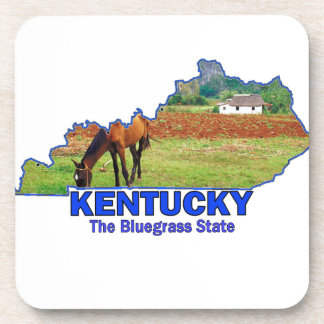 Kentucky The Bluegrass State Drink Coasters