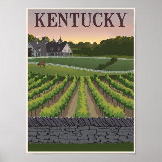 Kentucky travel poster