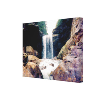 Kentucky Waterfall Stretched Canvas Print