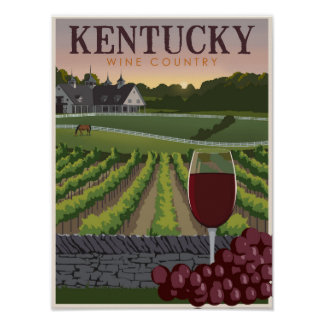 Kentucky wine country poster