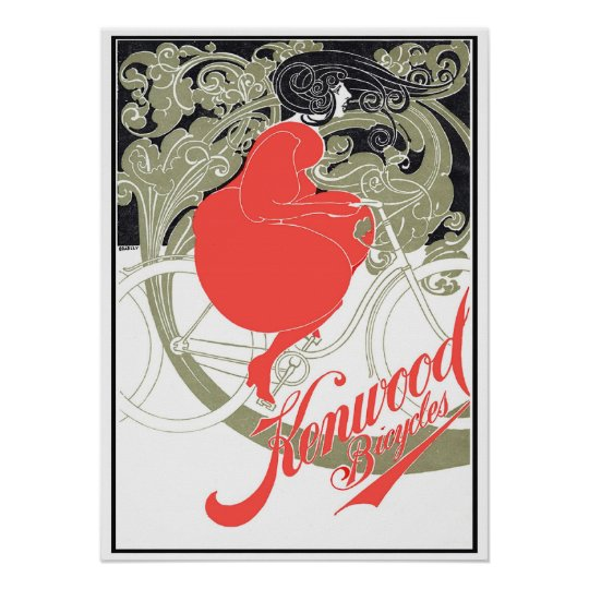 Kenwood Bicycles Art Nouveau Poster