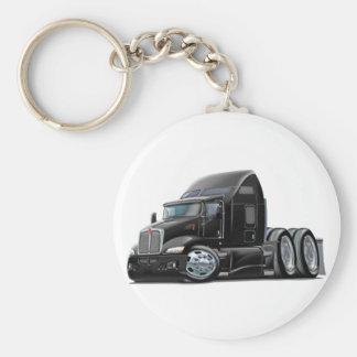 Kenworth 660 Black Truck Basic Round Button Key Ring