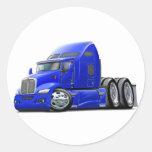 Kenworth 660 Blue Truck Classic Round Sticker