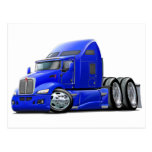 Kenworth 660 Blue Truck Post Cards
