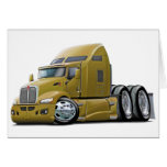 Kenworth 660 Gold Truck Greeting Cards