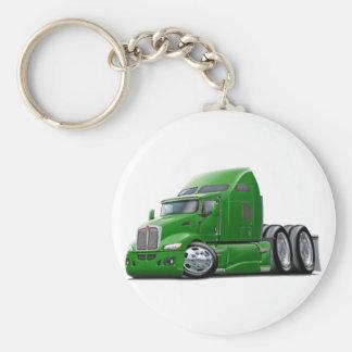 Kenworth 660 Green Truck Basic Round Button Key Ring