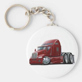 Kenworth 660 Maroon Truck Basic Round Button Key Ring