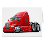 Kenworth 660 Red Truck Greeting Card