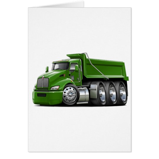 Kenworth T440 Green Truck Card
