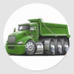 Kenworth T440 Green Truck Classic Round Sticker