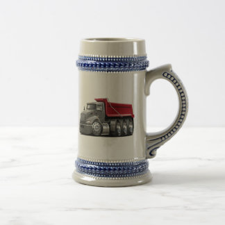 Kenworth T440 Grey-Red Truck Beer Stein
