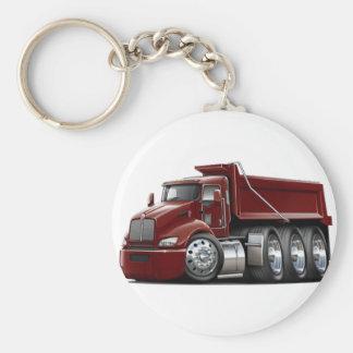 Kenworth T440 Maroon Truck Basic Round Button Key Ring
