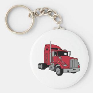 Kenworth Tractor Basic Round Button Key Ring