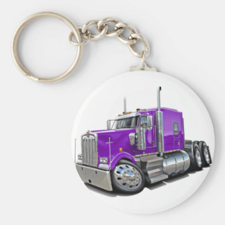 Kenworth w900 Purple Truck Key Ring