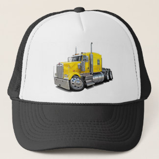 Kenworth w900 Yellow Truck Trucker Hat