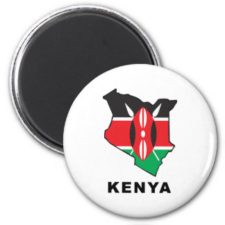 Kenya 6 Cm Round Magnet
