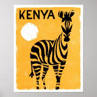 Kenya Africa Vintage Travel Poster Restored