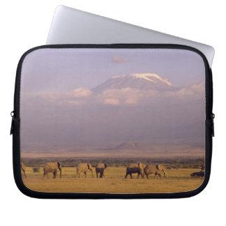 Kenya: Amboseli National Park, elephants and Laptop Sleeve