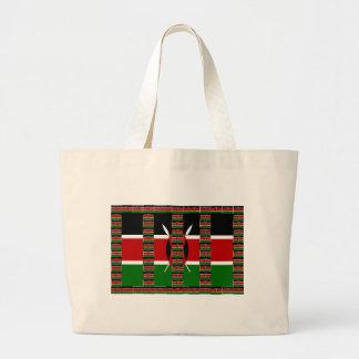 Kenya Black red green Jumbo Tote Bag