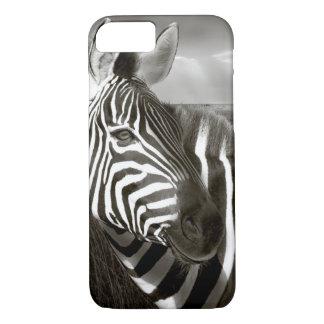 Kenya. Black & white of zebra and plain. iPhone 8/7 Case