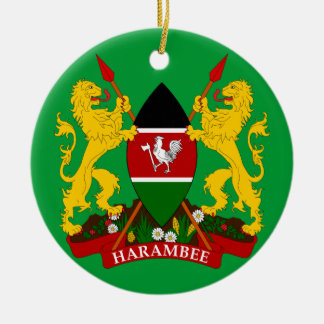 KENYA - Ceramic Christmas Ornament