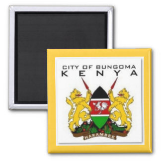 KENYA (CITIES) SQUARE MAGNET