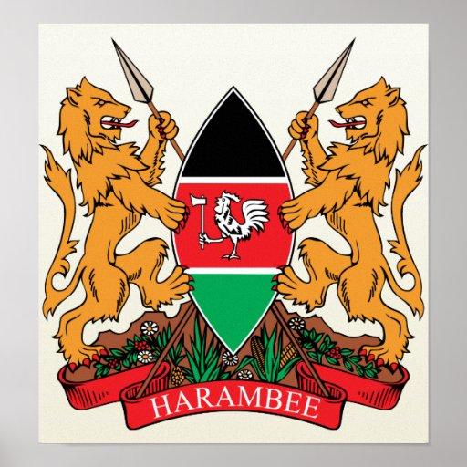 Kenya Coat of Arms detail   Zazzle
